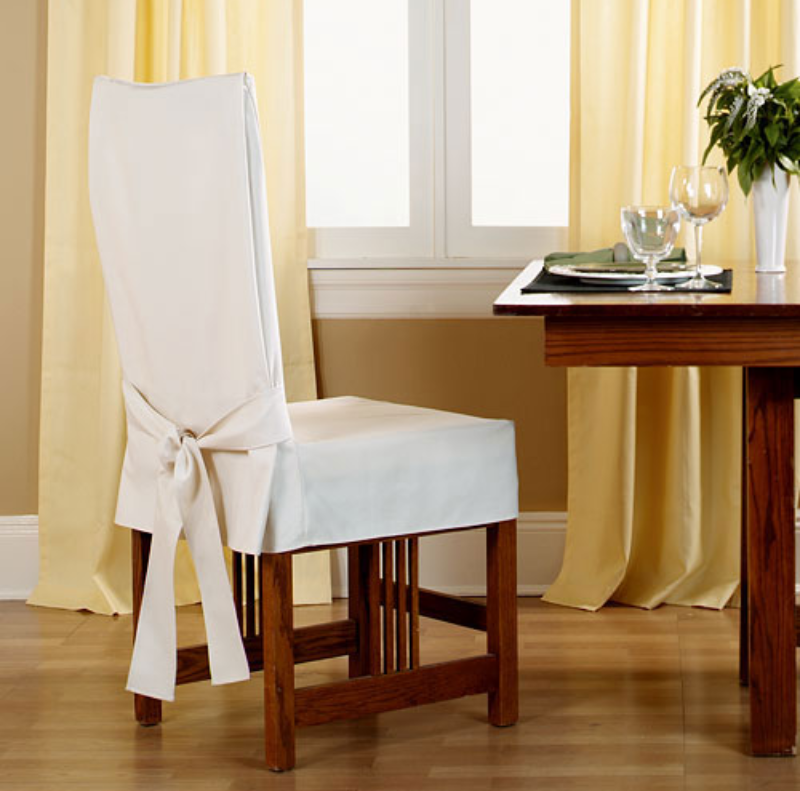 Накидка на стулья своими руками с фото
